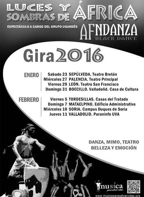 AF NDANZA TOUR JAN/FEB 2016