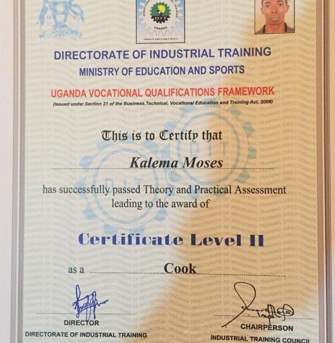 Kalema Moses es un chef.