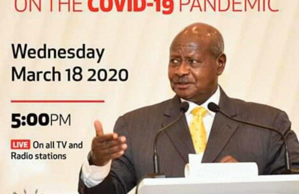 El presidente de Uganda se dirige al país acerca de la pandemia del COVID-19